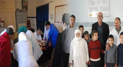 مندوبية الصحة بالدريوش تنظم قافلة طبية لفائدة سكان جماعة بودينار بقبيلة تمسمان
