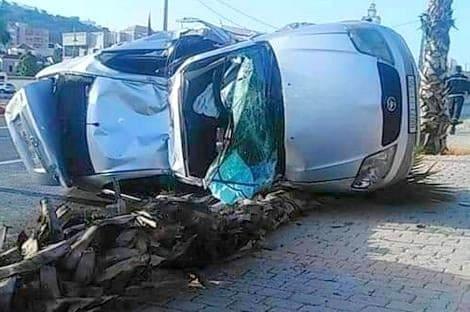 حادثة سير خطيرة في الطريق بين الحسيمة وأجدير.. والسائق يُنقل على وجه السرعة إلى المستعجلات
