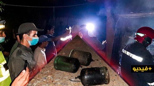 انفجار قنينة غاز في منزل قرب حدود مليلية يستنفر سلطات بني انصار