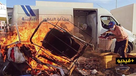 سلطات الناظور تواصل شن حملات تحرير الملك العام وتحجر عددا من العربات المجرورة