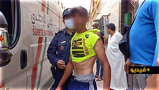 حارس ضيعة فلاحية ببوعرك تعرضت للسرقة يتعرف على لصين بالناظور ومواطنون يحاصرونهم داخل عمارة سكنية
