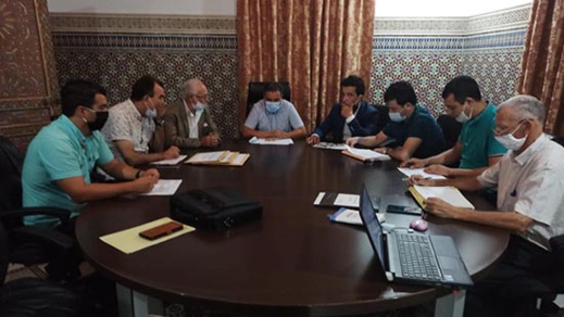 سعيد الرحموني يترأس لجنة فتح الأظرفة الخاصة بإنجاز القاعة المغطاة