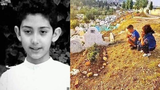"""مؤثر.. صورة أصدقاء الطفل """"عدنان"""" يترحمون على قبره تغزو مواقع التواصل الاجتماعي"""