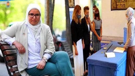 """المغربية المُحجبة التي أشرفت على زواج """"مثليات"""" بإسبانيا تخرج عن صمتها وهذا ما قالته"""