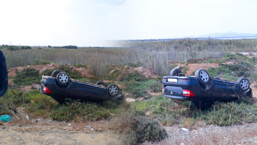 الألطاف الإلهية تحول دون سقوط ضحايا في حادث انقلاب سيارة بأركمان