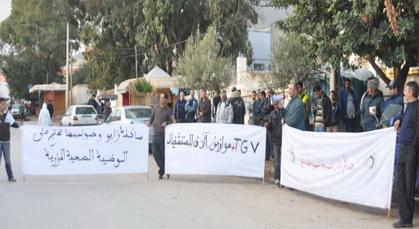 النقابيون بزايو ينظمون تجمع خطابي وسط المدينة احتجاجا على أوضاع الشغيلة والشعب المغربي