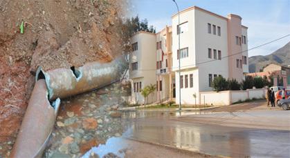 إصابة أنبوب الماء بزايو أثناء أشغال في دار البر يقطع المياه على نصف ساكنة زايو