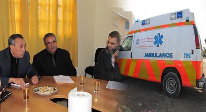 جمعية التنسيقية الأورو المتوسطية للتضامن تسلم سيارة إسعاف لفائدة جماعة أتركوت
