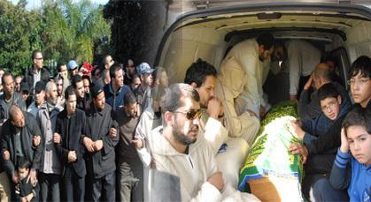 تشييع جثمان عبد السلام ياسين بمقبرة الشهداء بالرباط وسط موكب جنائزي مهيب