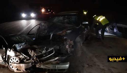 اصطدام قوي بين سيارتين يرسل ثلاثة أشخاص إلى المستشفى الحسني بالناظور
