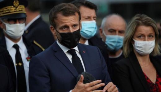 """ماكرون: فرنسا تتجه نحو """"مزيد من القيود"""" لاحتواء التفشي المتسارع لكوفيد-19"""