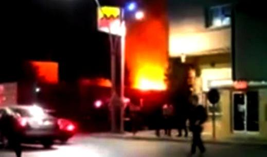 اندلاع حريق مهول بثانوية طه احسين بأزغنغان يتسنفر السلطات المحلية وعناصر الوقاية المدنية