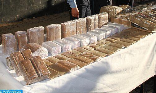 إجهاض محاولة للتهريب الدولي للمخدرات وحجز أربعة أطنان و967 كيلوغراما من الشيرا