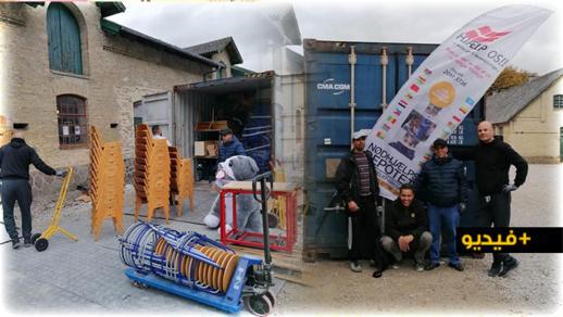 أفراد من الجالية المغربية بالدنمارك يقدمون مساعدات لققراء فم الحْصن