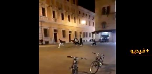 شاهدوا.. إيطالي يطلق النار بوسط المدينة على خمسة شبان مغاربة وأحدهم حالته حرجة