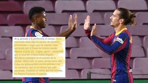 """صحيفة إسبانية تصف اللاعب فاتي بـ""""الأسود الذي يركض مذعورا"""" وبرشلونة يقرر مقاضاتها بسبب العنصرية"""