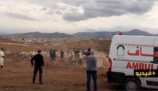 شاهدوا كيف يتم دفن اموات كورونا في الناظور