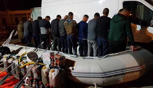 الشرطة القضائية تجهض محاولة للهجرة السرية انطلاقا من سواحل السعيدية