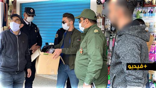 """شاهدوا.. السلطات العمومية تشن حملة لفرض احترام """"قانون"""" الحجر الصحي الجزئي"""