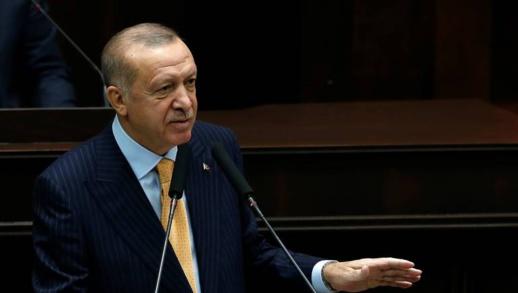 """شاهدوا.. أردوغان ينشد بالعربية """"طلع البدر علينا"""" انتصارا للرسول الكريم"""