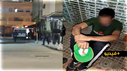 شاهدوا.. مواطنون يحاصرون لصاً متلبساً بسرقة محل لبيع الأثواب الباهظة وسط الناظور