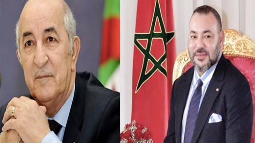 الملك يرسل برقية للرئيس الجزائري عبد المجيد تبون