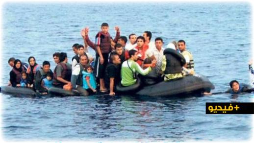 """شاهدوا.. أربع أسر تغامر بحياة أطفالها في رحلة للهجرة السرية نحو جزيرة """"كناريا"""" الإسبانية"""