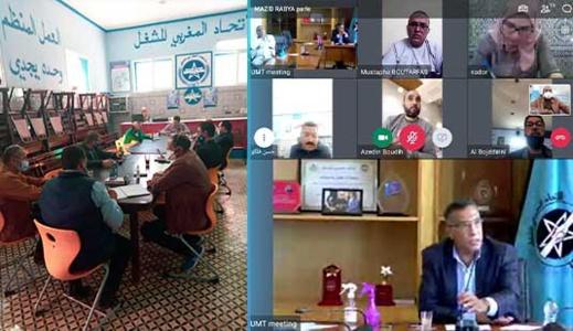 المكتب الجديد للإتحاد المغربي للشغل بالناظور يجري إجتماعا مع الأمين العام الميلودي موخاريق