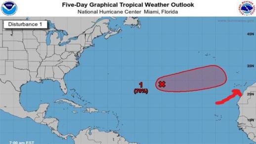 """""""ثيتا"""".. الإعصار القادم من أمريكا يقترب من السواحل المغربية وهذا ما قاله عنه يوعابد"""