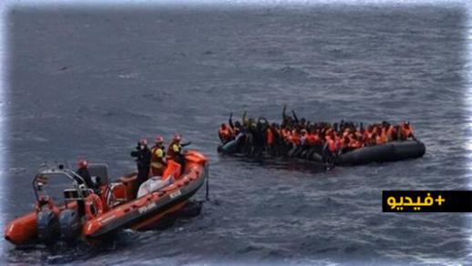 شاهدوا.. إنقاذ 100 مهاجر سري ووفاة 5 آخرين في عرض البحر المتوسط