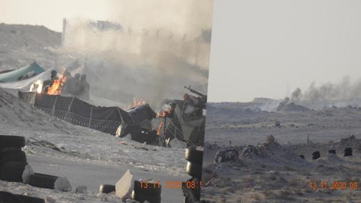 صور جديدة.. هكذا أحرقت جبهة البوليزاريو مخيم البلطجية بالكركرات لتوريط الجيش المغربي
