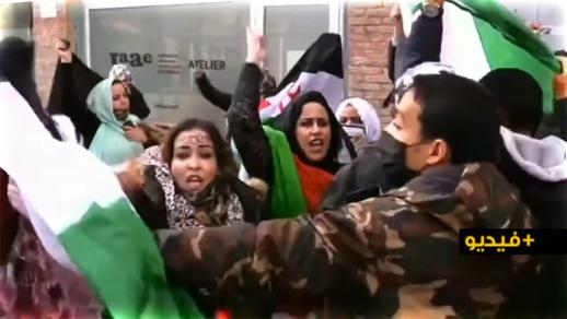 شاهدوا.. الجالية المغربية تفضح عصابة البوليساريو في وقفات احتجاجية باسبانيا