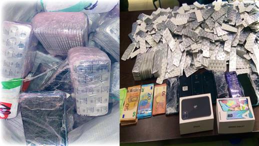 احباط عملية تهريب حوالي 20 ألف قرص طبي مخدر