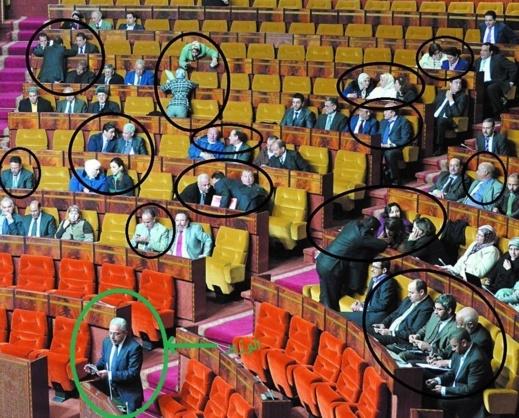 هكذا يهتم النواب البرلمانيون بأجوبة الوزراء عندما تغيب كاميرا التلفزيون عن القاعة