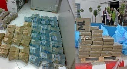 الفرقة الوطنية تحجز 6 أطنان من المخدرات و200 مليون وهواتف محمولة