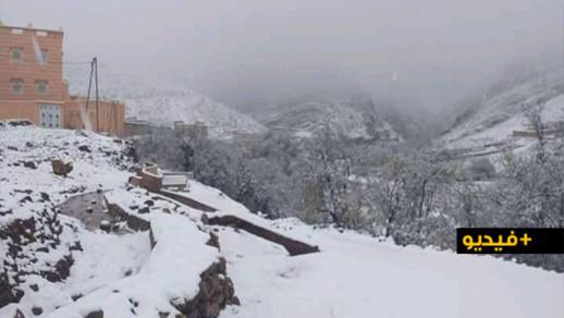 """الثلوج تغطي جبال الريف والأطلس مع انخفاض """"شديد"""" في درجات الحرارة"""