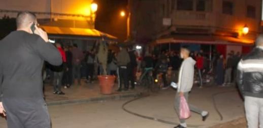 حريق مهول يلتهم محلاً لبيع المواد الغذائية وسط حي ترقاع بالناظور