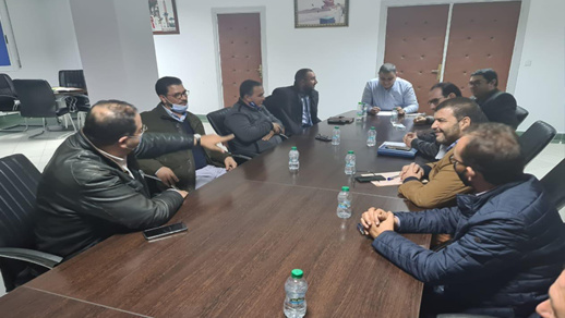 الاتحاد المغربي للشغل بالناظور يجتمع مع رئيس الجماعة رفيق مجعيط