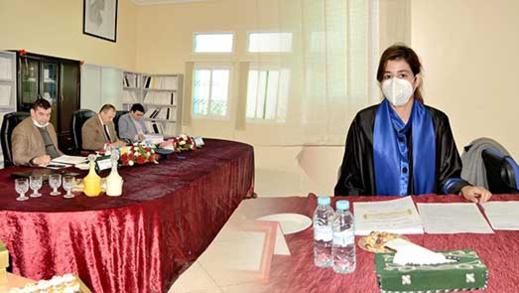الطالبة سارة البوشيشاوي تنال دبلوم الماستر في القانون مع التوصية بطبع ونشر الرسالة