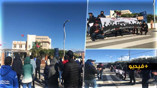 طلبة المدرسة الوطنية للعلوم التطبيقية بالحسيمة يحتجون ضد الوزارة الوصية بسبب مشاريع عشوائية