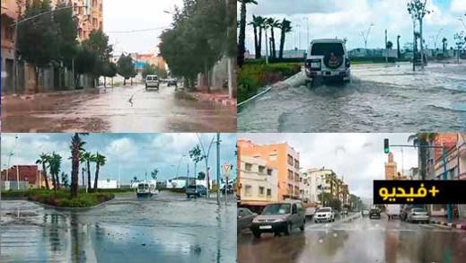 شاهدوا.. تساقطات مطرية تحول الناظور إلى مدينة عائمة