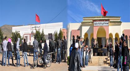 معطلو فرع أولاد استوت في أول مسيرة اتجاه الاحتجاجية منذ تأسيس الفرع