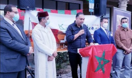 أفراد الجالية المغربية بأمريكا يتعبؤون للدفاع عن القضية الوطنية