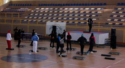 الرياضية بشرى اشريفي تؤطر أول تدريب جهوي في رياضة الإيروبيك