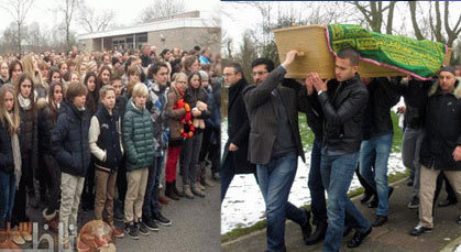 """مغاربة وهولنديون ومسؤولون وتلاميذ وعائلة """"أنس أوراغ"""" تؤبنه وتواريه الثرى"""