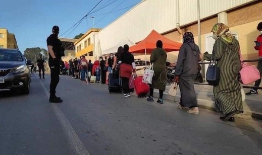 """سلطات سبتة المحتلة تستعدّ لإجلاء مجموعة أخرى من المغاربة العالقين فيها منذ إغلاق """"الحدود"""" بسبب """"الجائحة"""""""