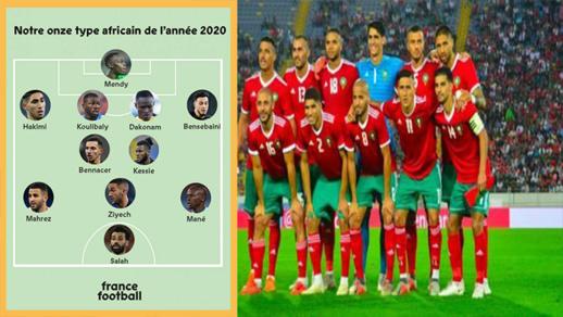 """فرانس فوتبول تختار """"الحكيمين"""" زياش وأشرف في التشكيلة الإفريقية المثالية في 2020"""