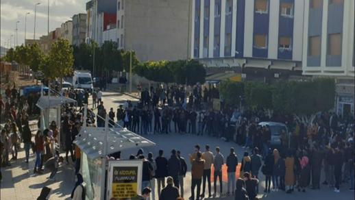 احتجاجات واعتصامات داخل كلية سلوان بالناظور بسبب حرمان الطلبة من مجموعة من الحقوق