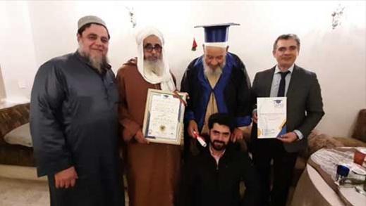 """بالصور.. الفنان عبد الهادي بلخياط يحصل على """"دكتوراه فخرية"""" من الأكاديمية الدولية للسلام"""