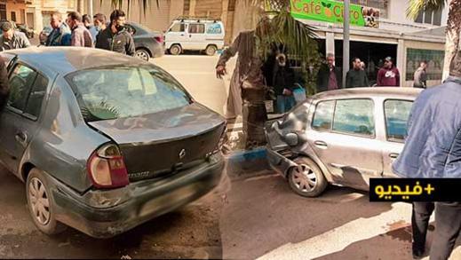 التفحيط يتسبب في حادثة سير خطيرة في الناظور